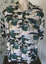 MONTICERUTTI Floral Short Sleeve Hawaiian Shirt L Large