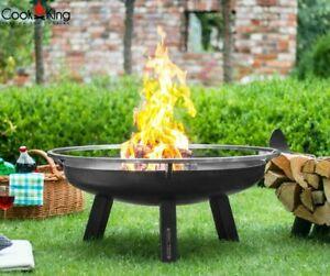 Feuerschale Terrassen / Gartenfeuer Porto 60, 70, 80 100 cm Cook King Stahl
