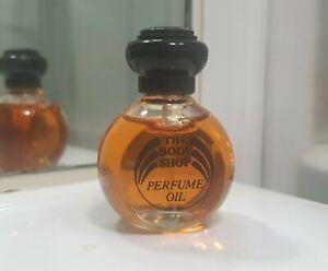 The Bodyshop Perfume Oil Vanilla 15ml Vintage Rare Black Cap