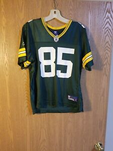 Greg Jennings #85 Green Bay Packers Reebok On Field Jersey Women's L EUC