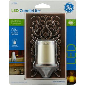 GE  CandleLite  Automatic  Plug-in  CandleLite  LED  Night Light