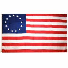 """New listing Betsy Ross Flag 3'x5' 36""""x60"""" Stars & Stripes American Colonial Patriotic Banner"""