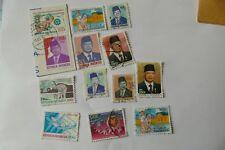 12X Indonesia  modern used postage stamps postal kiloware mail