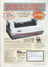 "Seikosha GP80 Matrix Printer ""Vintage Hardware"" 1981 Magazine Advert #5188"