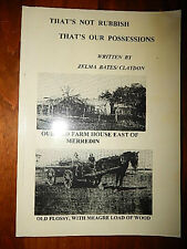 THAT'S NOT RUBBISH THAT';S OUR POSSESSIONS WRITTEN BY ZELMA BATES/CLAYDON