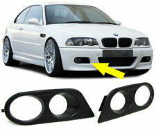 BMW E46 M3 FOG LIGHT BRACKETS / SURROUNDS / COVERS / TRIMS M3 BUMPER ONLY