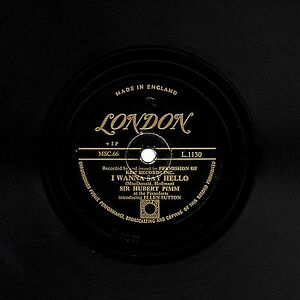 GOLD LONDON SIR HUBERT PIMM/ I WANNA SAY HELLO BILL SNYDER/CHICAGO BLUES L1130 E