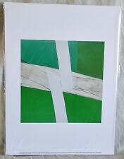 SANDRA BLOW : GREEN AND WHITE GICLEE PRINT - 40 x 30 cm - NEW & SEALED