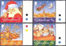 Gibraltar 1995 Christmas/Greetings/Toys/Teddy Bear/Santa/Reindeer 4v set n22898