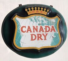 Antique CANADA DRY Vintage Enamel Porcelain Adv Sign Original