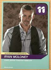 RYAN MOLONEY *Toadie* HAND SIGNED Channel 11 NEIGHBOURS Cast Fan Card #2