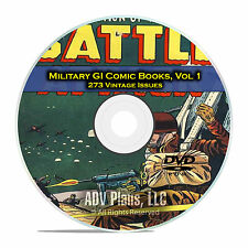 Military, GI Joe, Battle Attack, GI Combat, War Heroes Golden Age Comics DVD D12