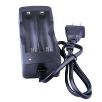 AC 110V 220V Dual Charger For 18650 3.7V Rechargeable Li-Ion Battery US