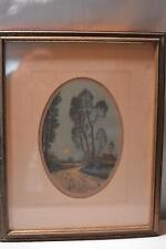 Antique Vintage Original Pen Watercolor PICTURE FRAME Signed Estate ART Work OLD