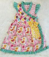 Girls Jelly The Pug Boutique Dress Size 6 Ruffles & Bows Great Condition CUTE!!!