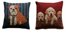 Blue & Red Colours Beautiful Dog Print 18 x 18 Cushion Covers Pillow Sofa Bed