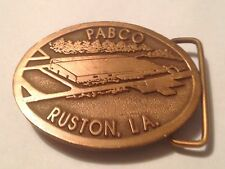 Vintage Pabco Ruston LA. Belt Buckle by Hit Line USA