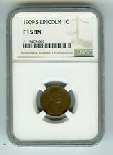 1909-S 1C Lincoln Wheat Cent (F 15 BN) NGC