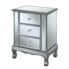 Convenience Concepts GC Vineyard 3 Drawer End Table, Silver - 413359S