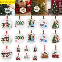2020 Christmas Hanging Ornament Santa Claus Family Home Party Pendant DIY Decor