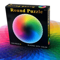 Jigsaw Puzzle 1000 Pieces Colorful Rainbow Round Educational Puzzle Adult Toy