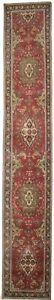 Handmade Oversized Runner Rug 3X16 Floral Vintage Semi Antique Hallway Carpet