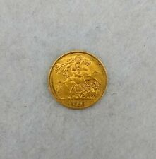 More details for 1912 george v gold half sovereign in very fine condition.