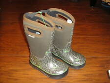 BOGS SZ 10 TODDLER BROWN SPIDER WINTER SNOW BOOTS