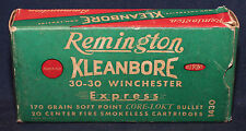 Original Vintage Remington 30-30 Winchester Empty Cartridge Box
