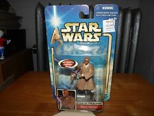 "STAR WARS ATTACK OF THE CLONES, MACE WINDU GEONOSIAN RESCUE 3.5"" FIG. NIP, 2002"