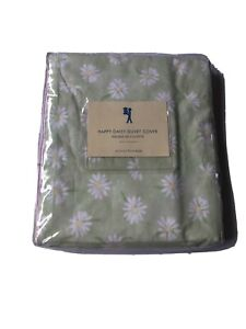 NEW Pottery Barn Kids Pink/Green Happy Daisy Floral Garden Twin Duvet Cover
