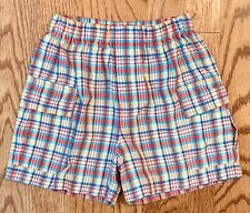 Kelly's Kids Boys XS 3-4 Plaid Cargo Shorts Summer Classic Boutique 3T 4T