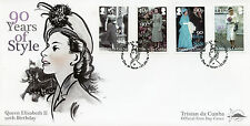 Tristan da Cunha 2016 FDC Queen Elizabeth II 90th Birthday 4v Set Cover Stamps