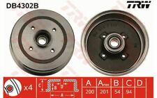 2x TRW Freno a tamburo Posteriore per OPEL CORSA DB4302B - Mister Auto