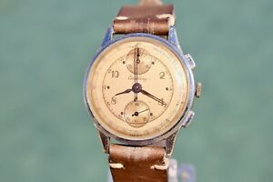 OUTSTANDING 1946 Vintage BREITLING ref. 178 Chronograph Watch Serviced Venus 170
