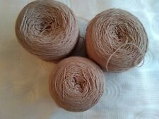 4 ply brown yarn - 331 grams