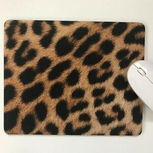 Computer Mouse Mat,Pad laptop desktop office Leopard Skin made in UK choose size