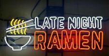 """Late Night Ramen Light Bar Beer Neon Sign 32"""" Artwork Real Glass Decor Open"""