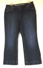 Lands' End Original Fit Modern Waist Boot Cut Stretch Denim Blue Jeans 10P