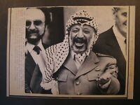 AP Wire Press Photo Yasser Arafat Leader of PLO After Elysee Talks F Mitterrand