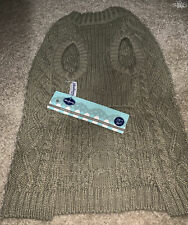 New listing Blueberry Pet 14� Wool Blend Cable Knit Dog Sweater