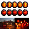 10x 12V Car Truck Lorry Round LED Bullet Button Rear Side Mini Marker Light Lamp