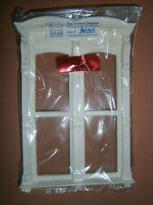 """Dollshouse Miniature 1/12"""" Set of One Lawbre Double Hooded Window"""