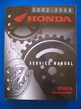 Honda 2002 - 2009 VFR800 A Interceptor BRAND NEW Factory Service Shop Manual