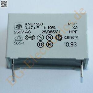 5 x 470nF 0.470uF 0.470µF 250V X2 MKP RM27,5 Folien Kondensator C Iskra  5pcs