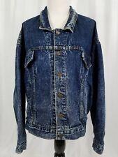 Vintage Levi's Men's Acid Wash Blue Denim Jean Jacket Size Large 75068 0227