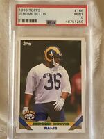 1993 Topps Jerome Bettis RC PSA 9 Mint Rookie Rams Steelers