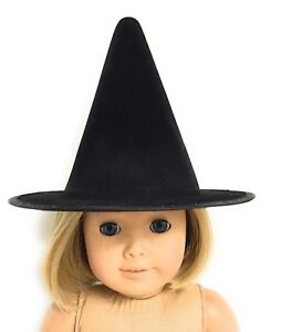 Black Witch Hat Accessories fits 18 inch American Girl Doll Clothes Halloween