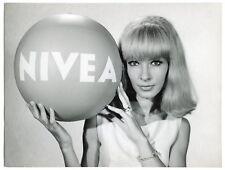 Photo Dany Saval - Nivea - Pub - Epreuve argentique d'époque - 1960's -