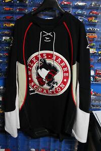 Wilkes Barre Scranton Penguins Reebok CCM Embroidered Jersey Size 54 - XXL